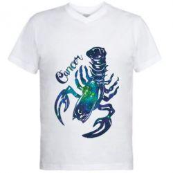 Мужская футболка  с V-образным вырезом Рак звезды