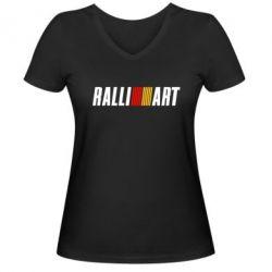 Женская футболка с V-образным вырезом Ralli Art Small - FatLine
