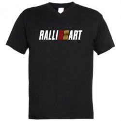 Мужская футболка  с V-образным вырезом Ralli Art