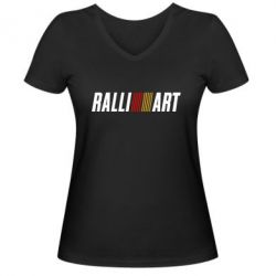 Женская футболка с V-образным вырезом Ralli Art - FatLine
