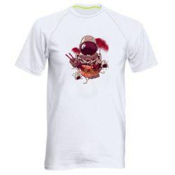 Мужская спортивная футболка Рамэн Космонавт