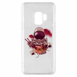 Чехол для Samsung S9 Рамэн Космонавт