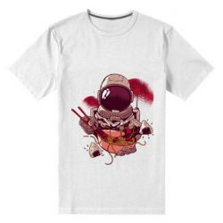 Мужская стрейчевая футболка Рамэн Космонавт