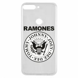 Чехол для Huawei Y7 Prime 2018 Ramones - FatLine
