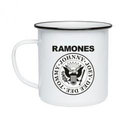 Кружка емальована Ramones