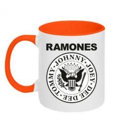 Кружка двоколірна 320ml Ramones