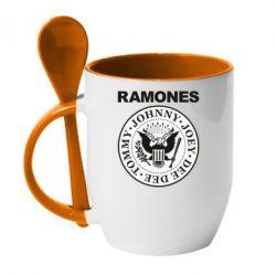 Кружка з керамічною ложкою Ramones