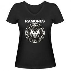 Жіноча футболка з V-подібним вирізом Ramones