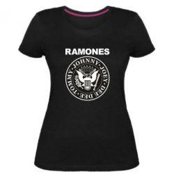 Жіноча стрейчева футболка Ramones