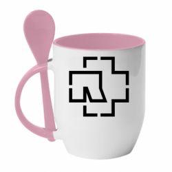 Кружка з керамічною ложкою Ramshtain logo