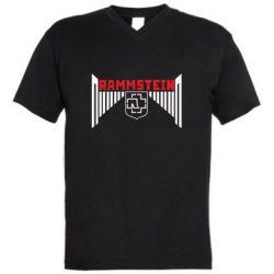 Чоловіча футболка з V-подібним вирізом Ramstein and wings