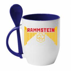 Кружка з керамічною ложкою Ramstein and wings