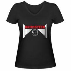Жіноча футболка з V-подібним вирізом Ramstein and wings