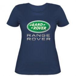 Женская футболка Range Rover Logo Metalic - FatLine