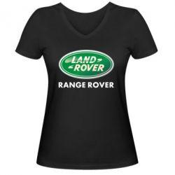 Женская футболка с V-образным вырезом Range Rover - FatLine