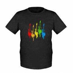 Детская футболка Разноцветные гитары - FatLine