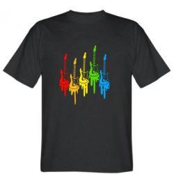 Мужская футболка Разноцветные гитары - FatLine