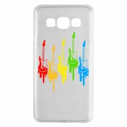 Чехол для Samsung A3 2015 Разноцветные гитары