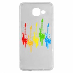 Чехол для Samsung A5 2016 Разноцветные гитары