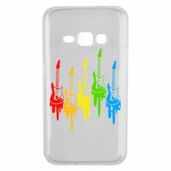 Чехол для Samsung J1 2016 Разноцветные гитары