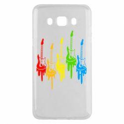 Чехол для Samsung J5 2016 Разноцветные гитары