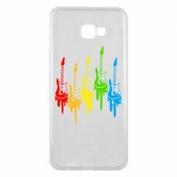 Чехол для Samsung J4 Plus 2018 Разноцветные гитары