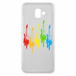 Чехол для Samsung J6 Plus 2018 Разноцветные гитары