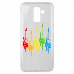 Чехол для Samsung J8 2018 Разноцветные гитары