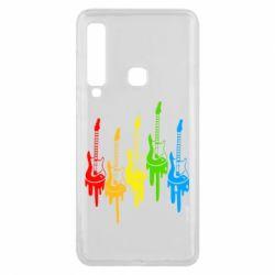 Чехол для Samsung A9 2018 Разноцветные гитары