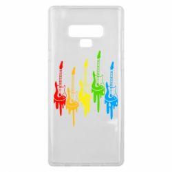 Чехол для Samsung Note 9 Разноцветные гитары