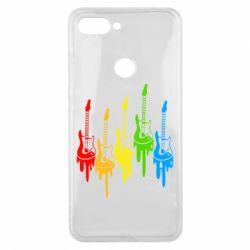 Чехол для Xiaomi Mi8 Lite Разноцветные гитары