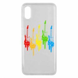 Чехол для Xiaomi Mi8 Pro Разноцветные гитары