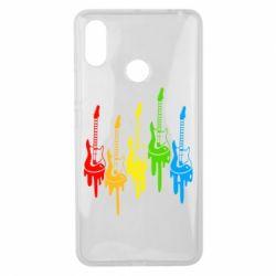 Чехол для Xiaomi Mi Max 3 Разноцветные гитары
