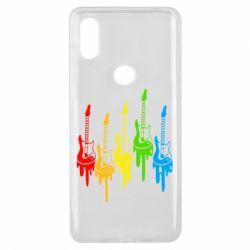 Чехол для Xiaomi Mi Mix 3 Разноцветные гитары