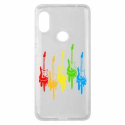 Чехол для Xiaomi Redmi Note 6 Pro Разноцветные гитары
