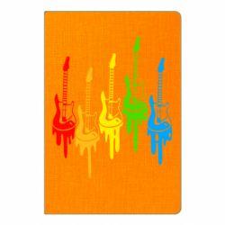 Блокнот А5 Разноцветные гитары