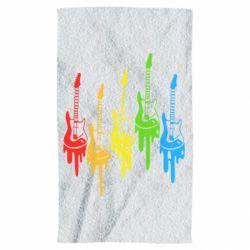 Полотенце Разноцветные гитары