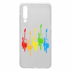 Чехол для Xiaomi Mi9 Разноцветные гитары