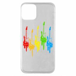 Чехол для iPhone 11 Разноцветные гитары