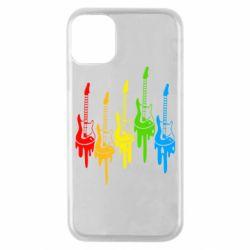 Чехол для iPhone 11 Pro Разноцветные гитары