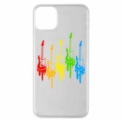 Чехол для iPhone 11 Pro Max Разноцветные гитары