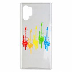 Чехол для Samsung Note 10 Plus Разноцветные гитары