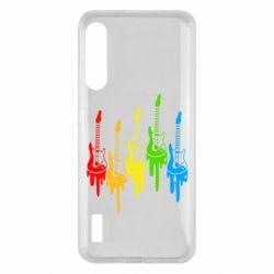 Чохол для Xiaomi Mi A3 Разноцветные гитары