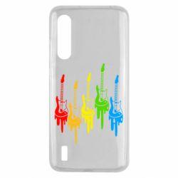 Чехол для Xiaomi Mi9 Lite Разноцветные гитары
