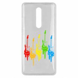 Чехол для Xiaomi Mi9T Разноцветные гитары