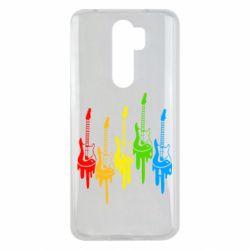 Чехол для Xiaomi Redmi Note 8 Pro Разноцветные гитары