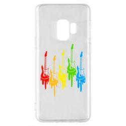Чехол для Samsung S9 Разноцветные гитары