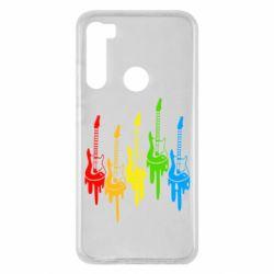 Чехол для Xiaomi Redmi Note 8 Разноцветные гитары