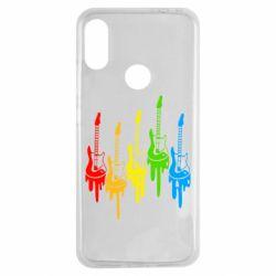 Чехол для Xiaomi Redmi Note 7 Разноцветные гитары