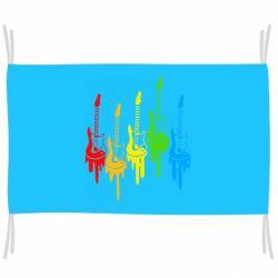Флаг Разноцветные гитары